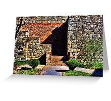 Fortress Kamelegdan Stairs Belgrade Greeting Card