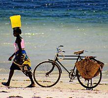 Mombasa Beach Lady by Brendan Buckley