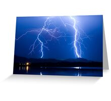 Lightning Thunderstorm 08.05.09 Greeting Card