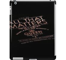 justin bieber - confident lyrics iPad Case/Skin