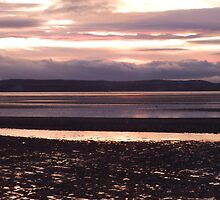 Red and black sunset on West kirby-fire in the skies by kytephotography