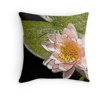 Water Lily Art Series II  /  Throw Pillow