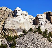 Mount Rushmore National Memorial by Teresa Zieba