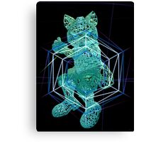 Melee Fox Shine Wireframe Canvas Print
