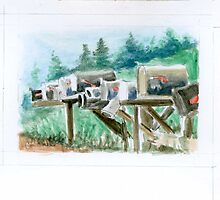 Country Mailboxes by billcrowley