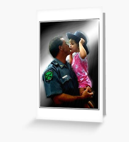 Police Angel Greeting Card