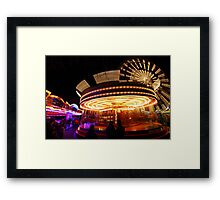 Lincoln Christmas Market Fun Fair Framed Print