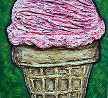 """""""Pink Cake Cone"""" by Adela Camille Sutton"""