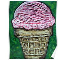 """Pink Cake Cone"" Poster"