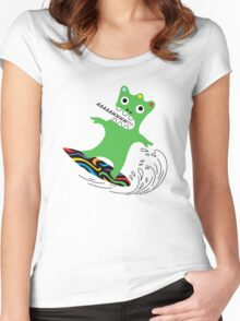 Critter Surf   Women's Fitted Scoop T-Shirt