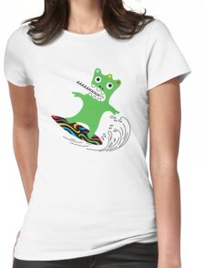 Critter Surf   Womens Fitted T-Shirt