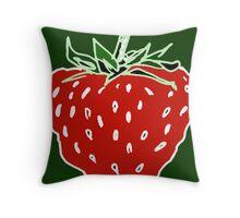 Ripe Strawberry Throw Pillow