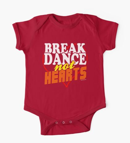 Break Dance Not Hearts Retro Vintage  One Piece - Short Sleeve