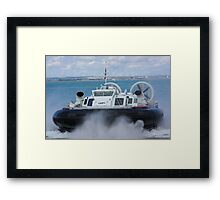 Solent Express arriving at Ryde Framed Print