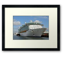 Independence of the Seas docked in Southampton Framed Print
