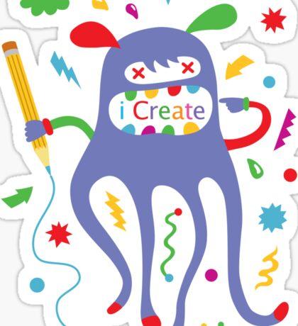 i create    Sticker