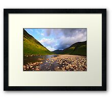 Glen Etive Dawn Framed Print