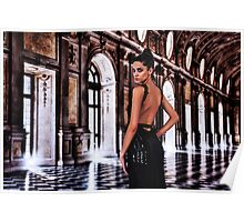 High Fashion Ballroom Fine Art Print Poster