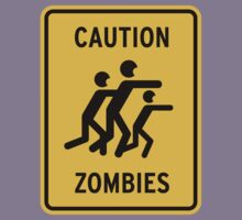 Zombie Warning Kids Clothes