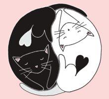 Yin Yang Cats Kids Tee