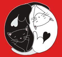 Yin Yang Cats One Piece - Short Sleeve