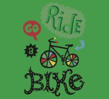 Go Ride a Bike   Kids Tee