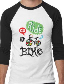 Go Ride a Bike   Men's Baseball ¾ T-Shirt