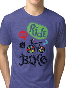 Go Ride a Bike   Tri-blend T-Shirt