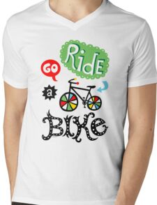 Go Ride a Bike   Mens V-Neck T-Shirt