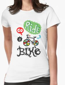 Go Ride a Bike   Womens Fitted T-Shirt