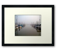 The Fleet In Fog Framed Print
