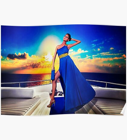 High Fashion Yacht Fine Art Print Poster