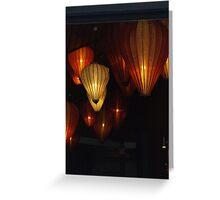 Baloon lamps Greeting Card
