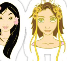 Seasons Princesses Sticker