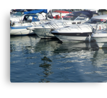 Reflections at Brighton Marina Metal Print