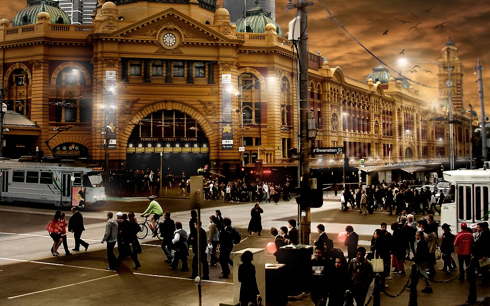 Flinders Street Station by Cliff Vestergaard
