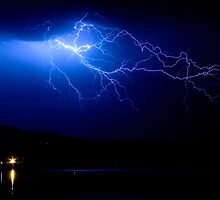 Lake Lightning Sky by Bo Insogna