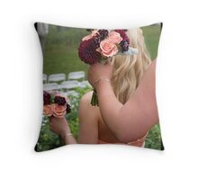Bridesmaids' Bouquets Throw Pillow