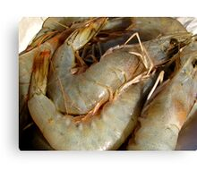 raw prawn Canvas Print