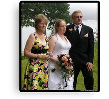 Bride and Her Parents Canvas Print