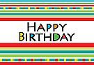 Happy Stripe Birthday  card  by Andi Bird