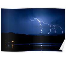 Boulder County Lake Lightning 08.05.09 Poster