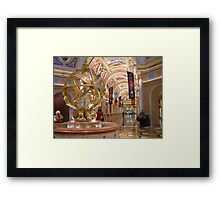 Lobby Of The Venetian Hotel Framed Print