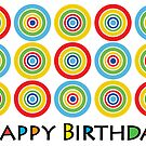 Primary Circles Birthday - card by Andi Bird