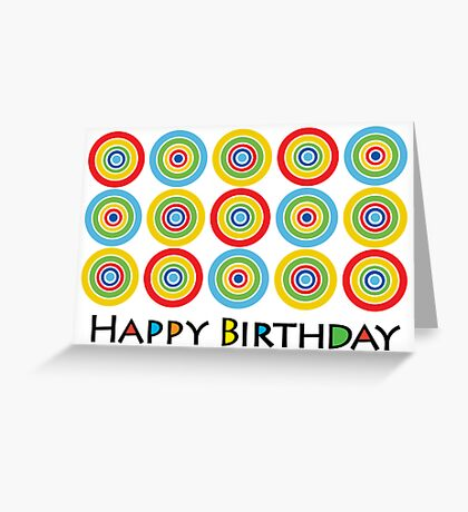 Primary Circles Birthday - card Greeting Card