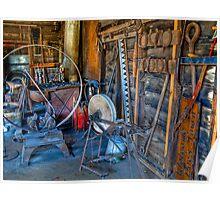 Wagon Tire Machine Poster