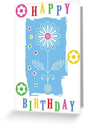 Flower Power Birthday  card by Andi Bird