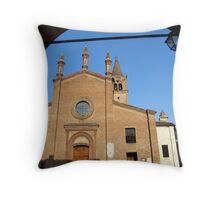 Busseto the Church Throw Pillow