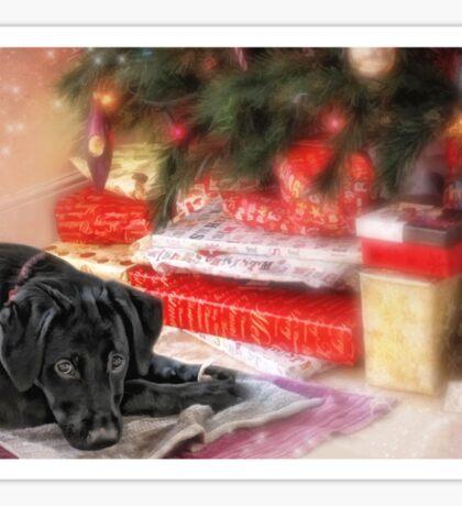 Waiting for Santa...... Sticker