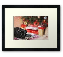 Waiting for Santa...... Framed Print